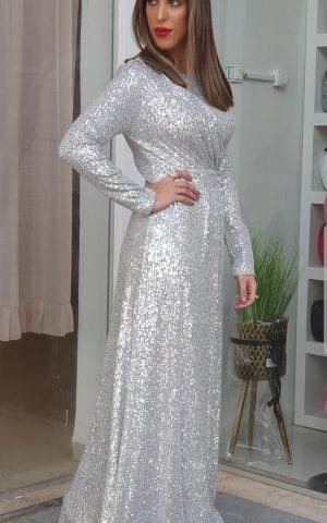 שמלת ערב פייט כסף