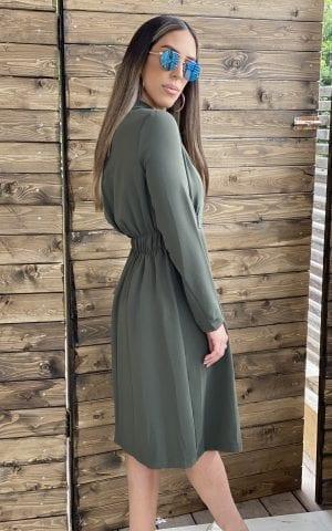 שמלת גקט מחוייטת זית