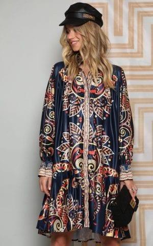 שמלת קז'ואל כחולה סלינה