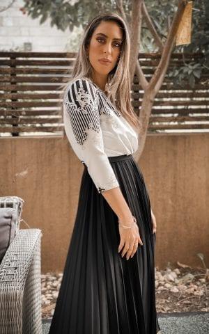 שמלת קלאס שחור לבן