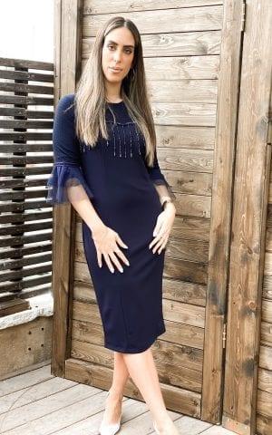 שמלת אלגנט טול כחול