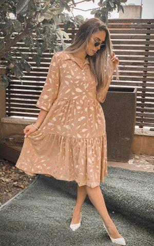 שמלת עלים זהב קומות