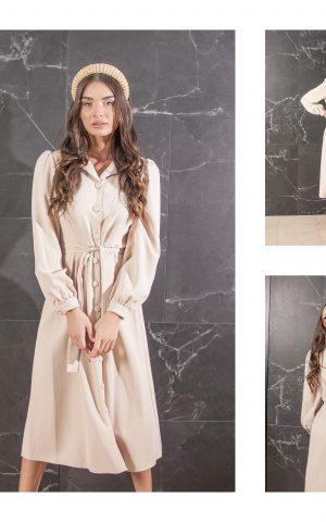 שמלת קייט מכופתרת