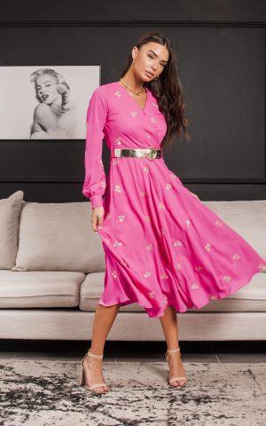 שמלת מריל פוקסיה